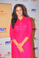 Sree Mukhi in Pink Kurti looks beautiful at Meet and Greet Session at Max Store (71).JPG