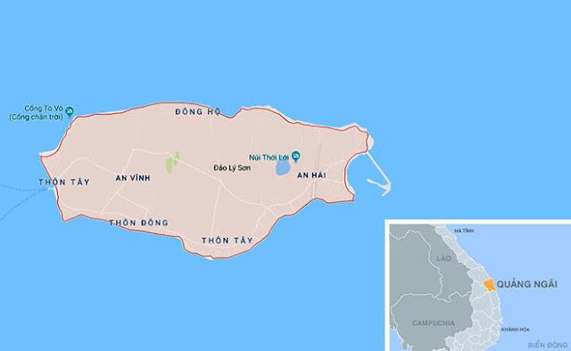 Huyện đảo Lý Sơn, nơi hàng nghìn hộ dân bị cô lập hơn 1 tuần qua do biển động kéo dài.