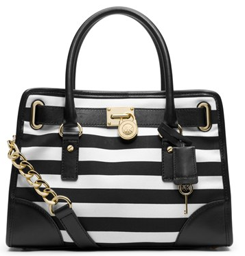 MICHAEL Michael Kors Hamilton Striped Canvas Satchel. Order Required.  Retail Price  USD268 Price  RM1140 Colour  Blue White fb069111eabc8