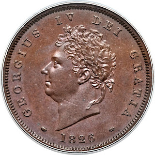 British Coins One Penny 1826 King George IV