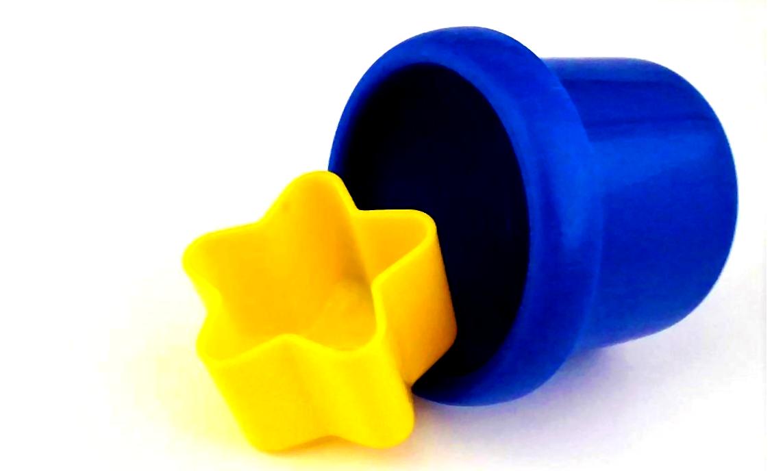 Logo des Blogs Der (europäische) Föderalist: Ein gelber Stern fällt aus einem runden blauen Spielzeugeimerchen