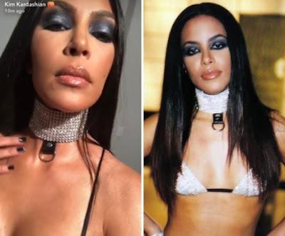 kim kardashian aaliyah halloween costume