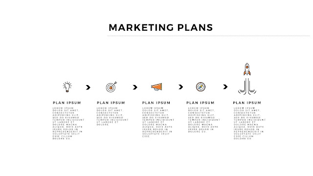 Infographic Marketing Plan Free PowerPoint Template Slide 3