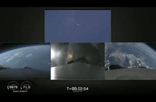 SpaceX Falcon Heavy engine views