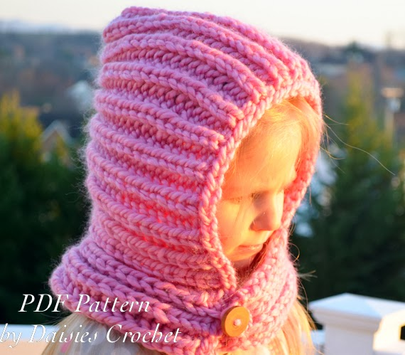 Daisies Crochet: Knitting Hooded cowl. LITTLE CUZINE
