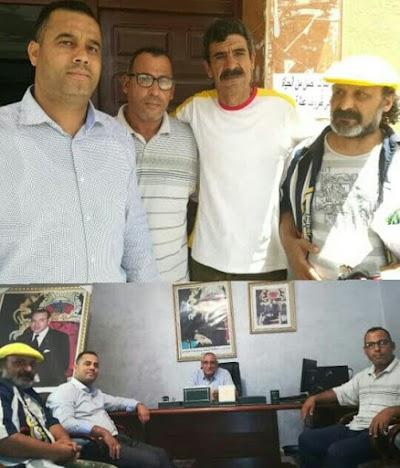 الرابطة المغربية للمواطنة و حقوق الإنسان ،الفرع الإقليمي باليوسفية في أول مؤازرة له