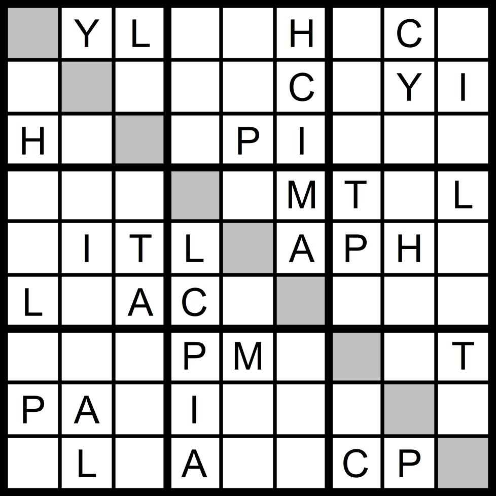 Magic Word Square: New Word Sudoku Puzzle for Tuesday, 2/27/2018