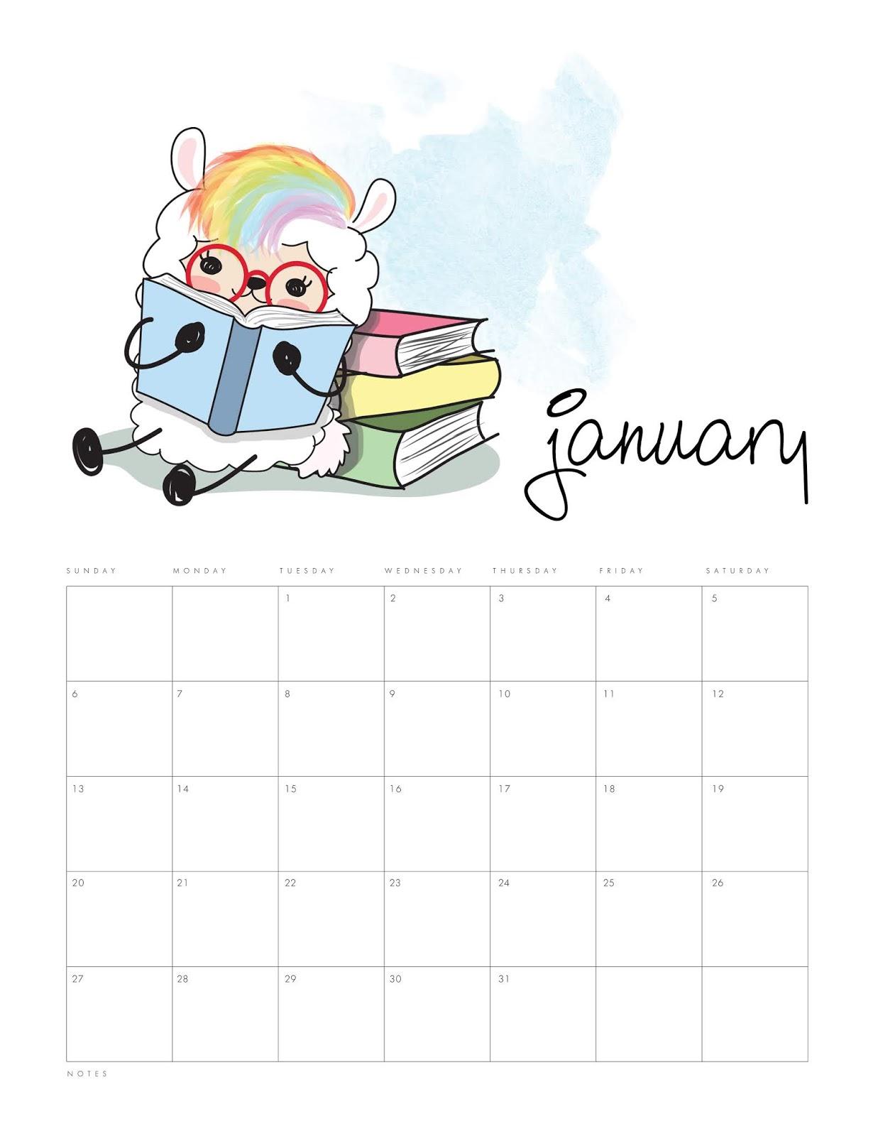 Calendario 2019 Disney Para Imprimir.Llama Kawaii Calendario 2019 Para Imprimir Gratis Ideas