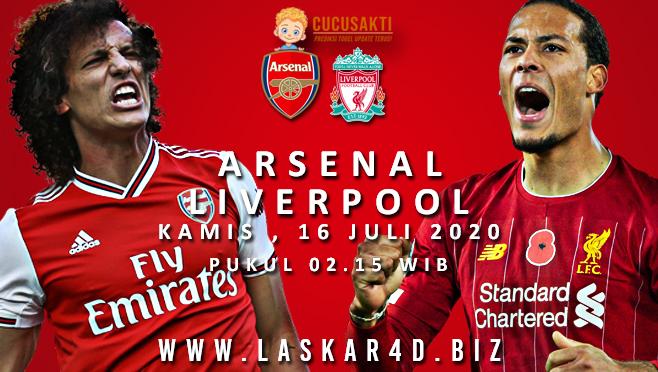 Prediksi Bola Arsenal vs Liverpool Kamis 16 Juli 2020