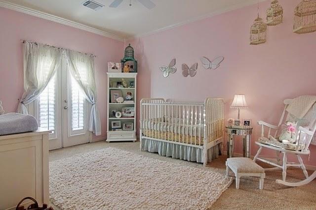 Cuartos de beb color rosa ideas para decorar dormitorios - Alfombras habitacion bebe ...
