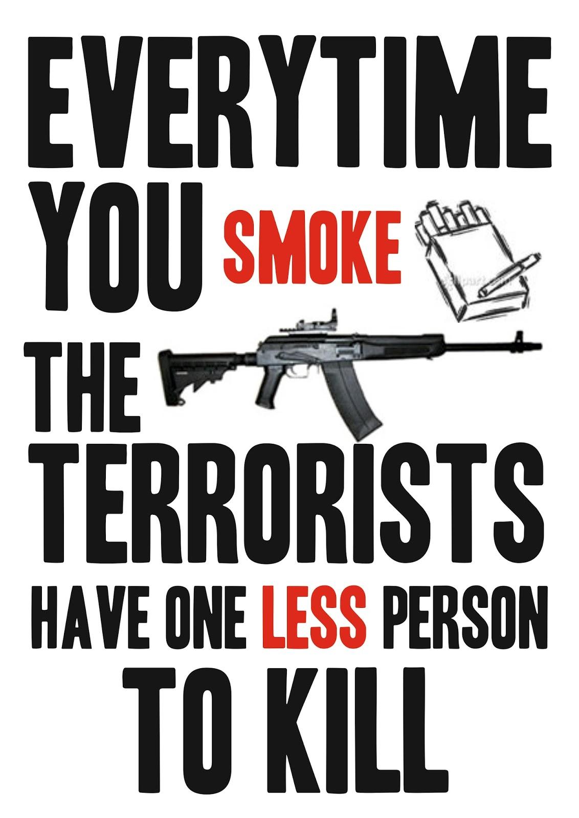 Teroris berbahay bukan islam akan tetapi rokok