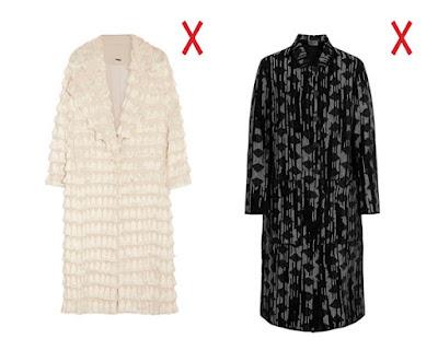 Белое и серое длинные пальто