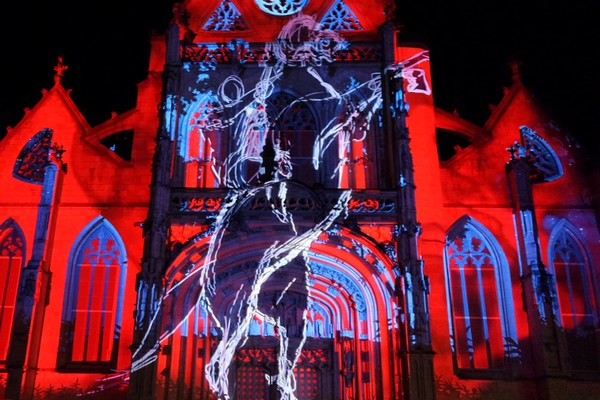 bourg-en-bresse couleurs amour monastère royal brou spectacle illuminations