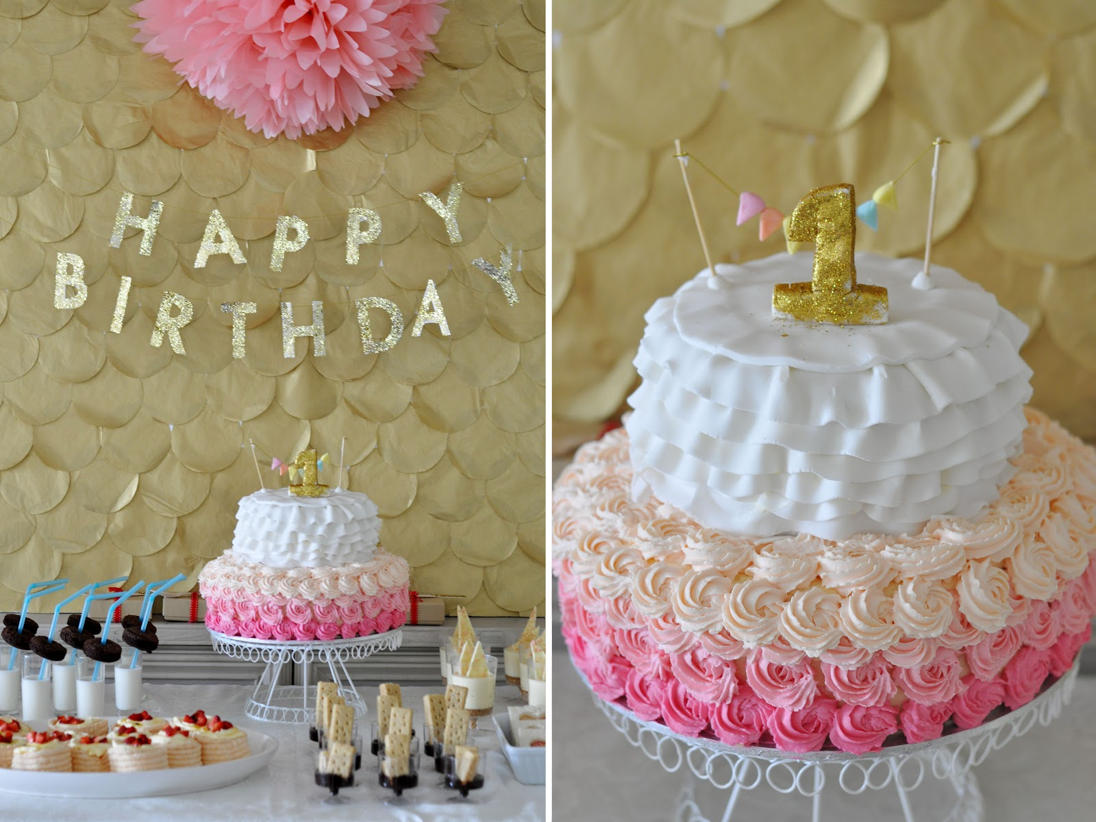 Pink And Gold Small Cake Ideas 56258 Pink Gold Pink Gold D