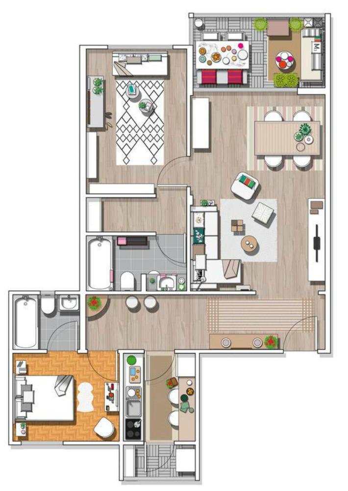 Decoraci n f cil la casa de una joven blogera en espa a - Planos de casas en espana ...