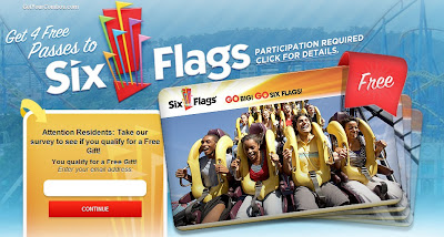 Six flags free tickets