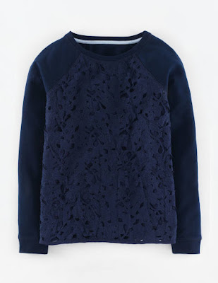 Boden Pretty Lace Sweatshirt