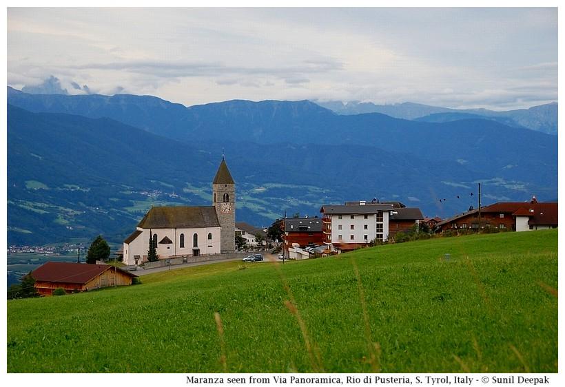 A view of Maranza (Rio di Pusteria, Alto Adige, Italy) - Images by Sunil Deepak