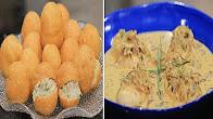 برنامج زعفران و فانيلا 9-8-2016 طريقة عمل دجاج بصلصة الجبن و الاعشاب - كيش السبانخ بالباف بيستري - فطائر مقلية مع غادة التلي