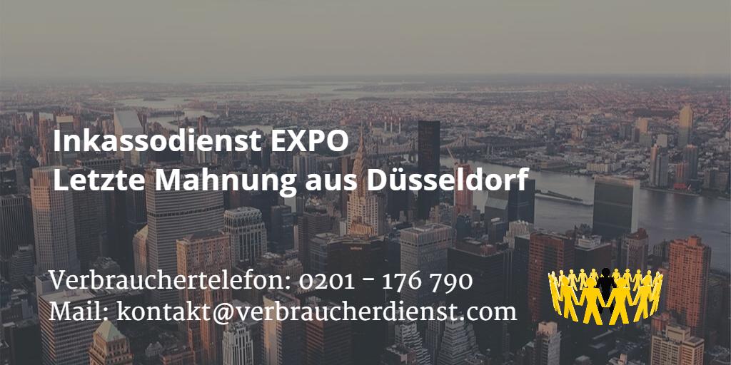 Inkassodienst Expo Letzte Mahnung Aus Düsseldorf