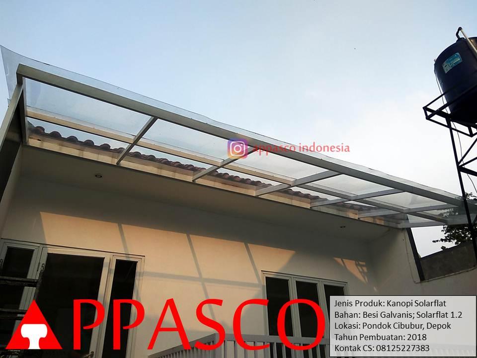 Kanopi Solarflat Transparan di Pondok Cibubur Depok