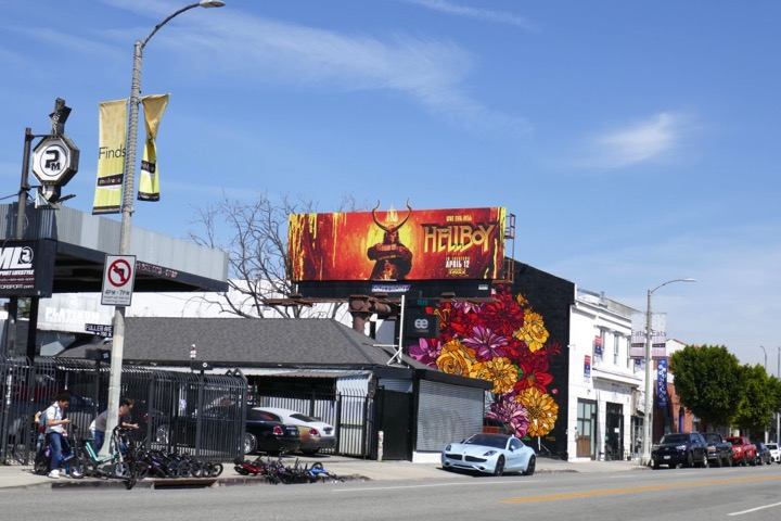 Hellboy movie billboard