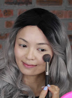 Use Jeffree Star Skin Frost #peach goddess highlight the upper cheek area, below hallow of cheek, forehead, a tiny line down the bridge of the nose and chin area