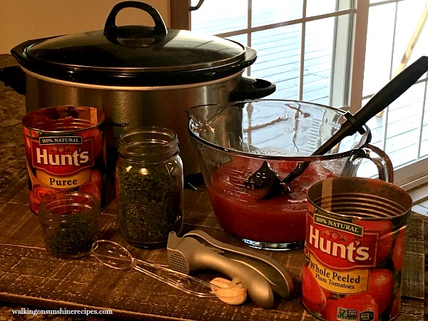 Ingredients for Homemade Tomato Sauce from Walking on Sunshine