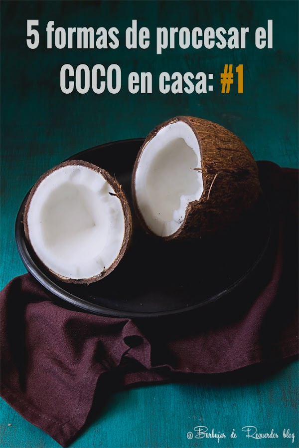 5 formas de procesar el coco en casa #1:  Coco deshidratado