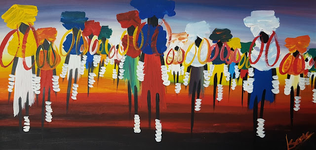 Paintings Canvas African Curio People