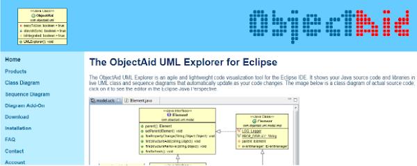 Página principal do ObjectAid