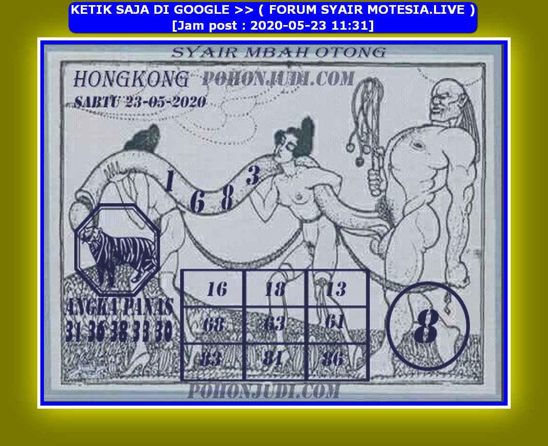 Kode syair Hongkong Sabtu 23 Mei 2020 122
