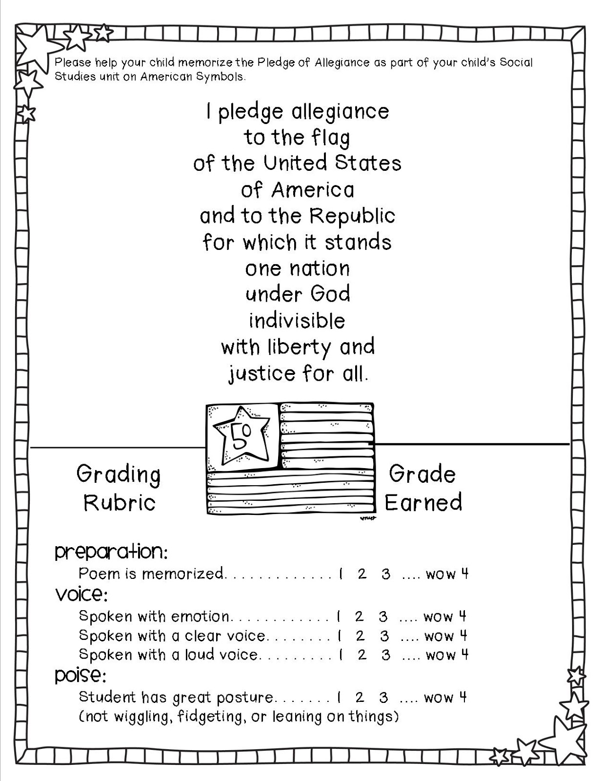 Oral Reading Fluency Rubric 3rd Grade