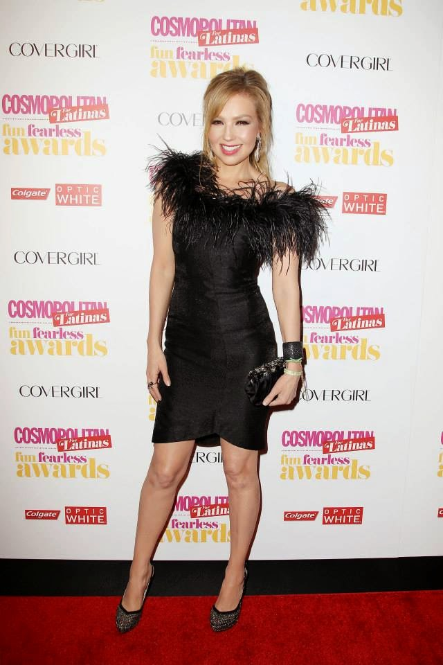 Actress/Songstress Thalia at Cosmopolitan for Latinas Fun Fearless Awards 2014 in New York City