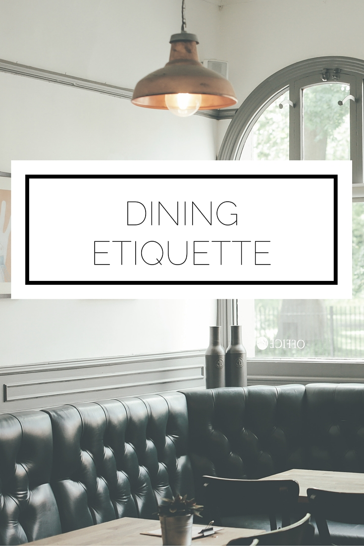 topic dining etiquette You don't have to practice perfect table manners at home, but you should have a basic grasp on dining etiquette so you know how to handle yourself at a forma.