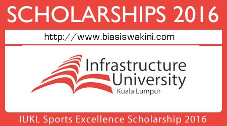 IUKL Sports Excellence Scholarship 2016