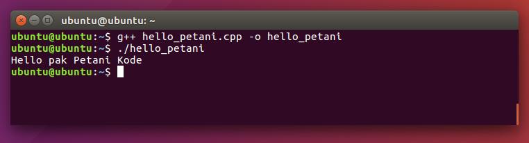 Kompilasi dan eksekisi program C++ di Ubuntu