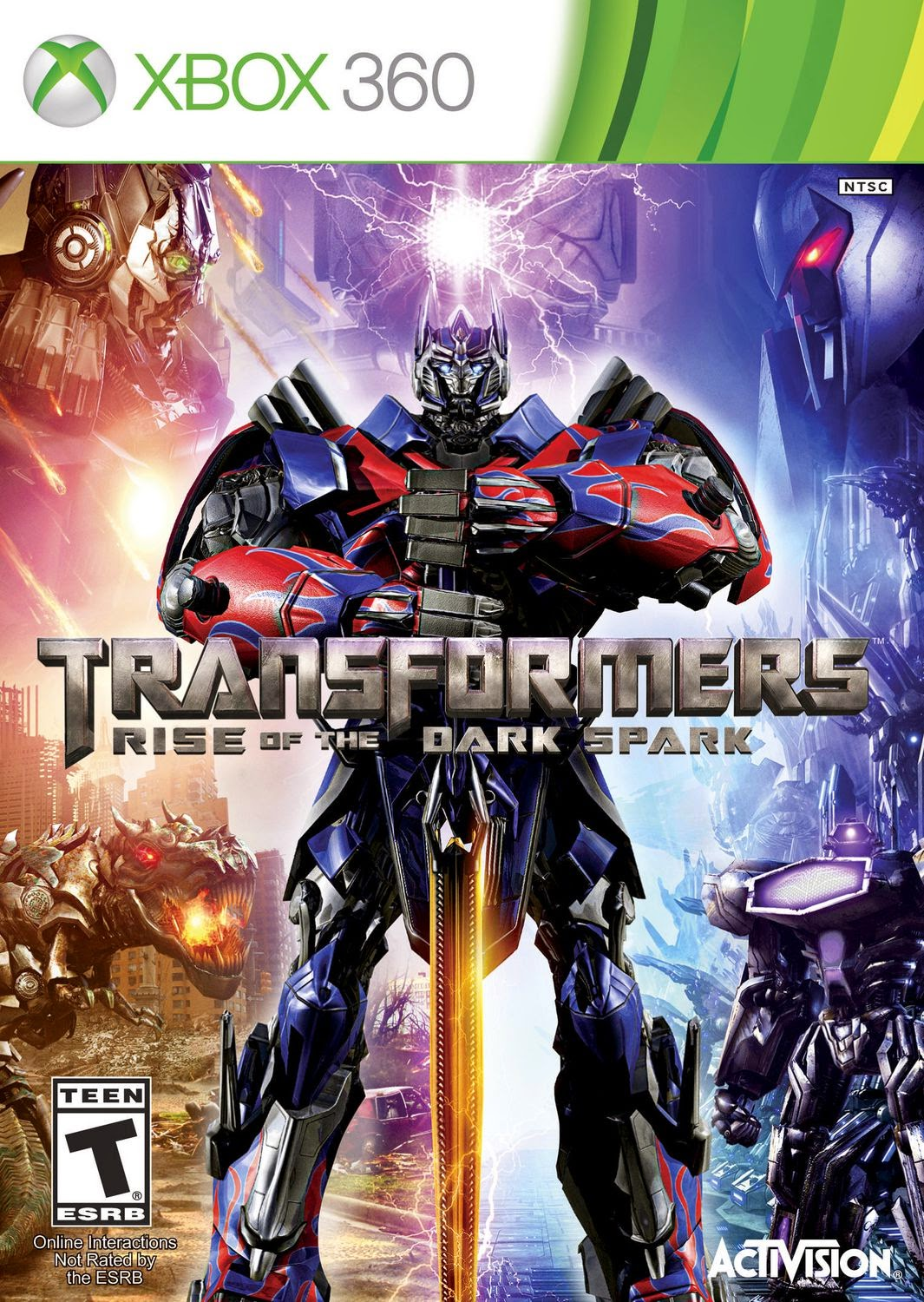 Cover Caratula TRANSFORMERS Rise Of The Dark Spark XBOX 360 ESPAÑOL Descargar