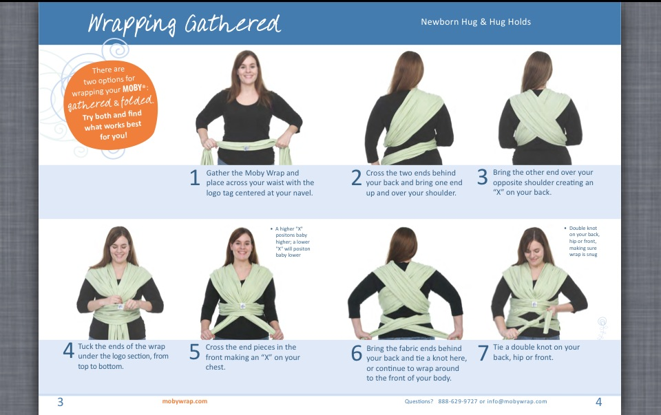 Moby Wrap Newborn Hug Hold Instructions Home Exsplore