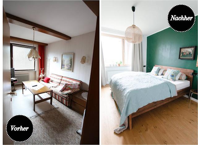 Vorher nachher unser schlafzimmer wohn projekt - Schlafzimmer vorher nachher ...