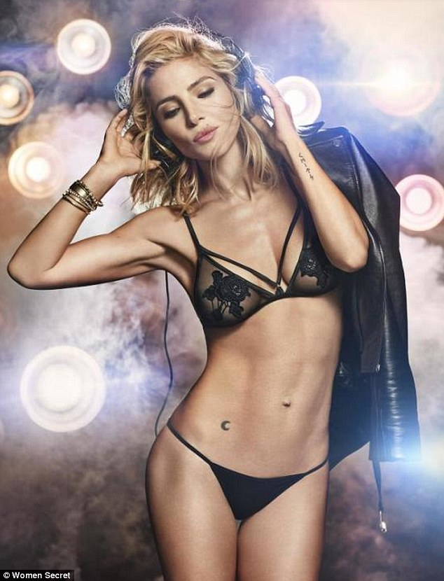Elsa Pataky strips to lingerie for Women's Secret Commercial