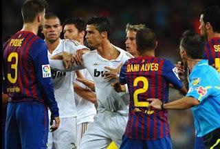 Barcelona vs Real Madrid - la liga - Gerrard Pique
