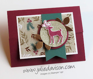 Stampin' Up! Dashing Deer Gate Fold Card + VIDEO with more Dashing Deer ideas ~ 2018 Holiday Catalog ~ www.juliedavison.com