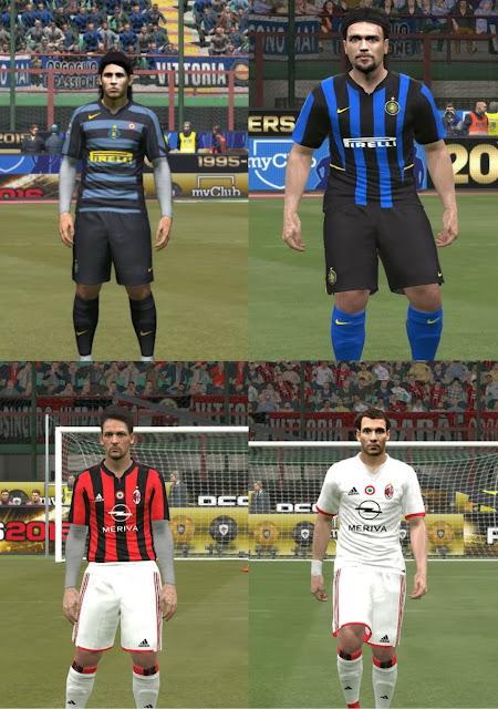 online retailer 1b0ad 09ed7 PES 2016 Retro Kits Inter Milan and AC Milan - PATCH PES ...