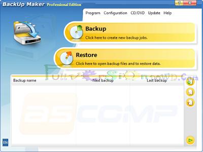 BackUp Maker Professional Edition 7.200 Full Version