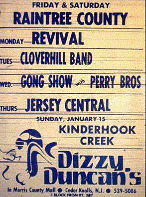Dizzy Duncan's band line up