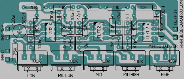 Cara membuat mini equalizer skema dan Pcb