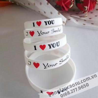 Mẫu vòng tay I Love You