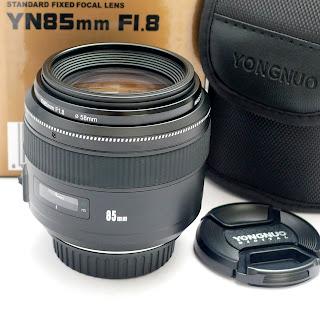 Lensa Yongnuo 85mm f1.8 Baru