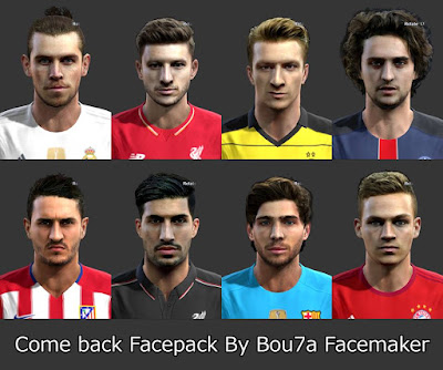PES 2013 Come back Facepack By Bou7a Facemaker